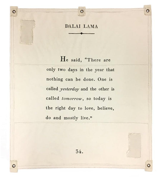 Dalai Lama Quote Wall Hanging | Rebecca Puig