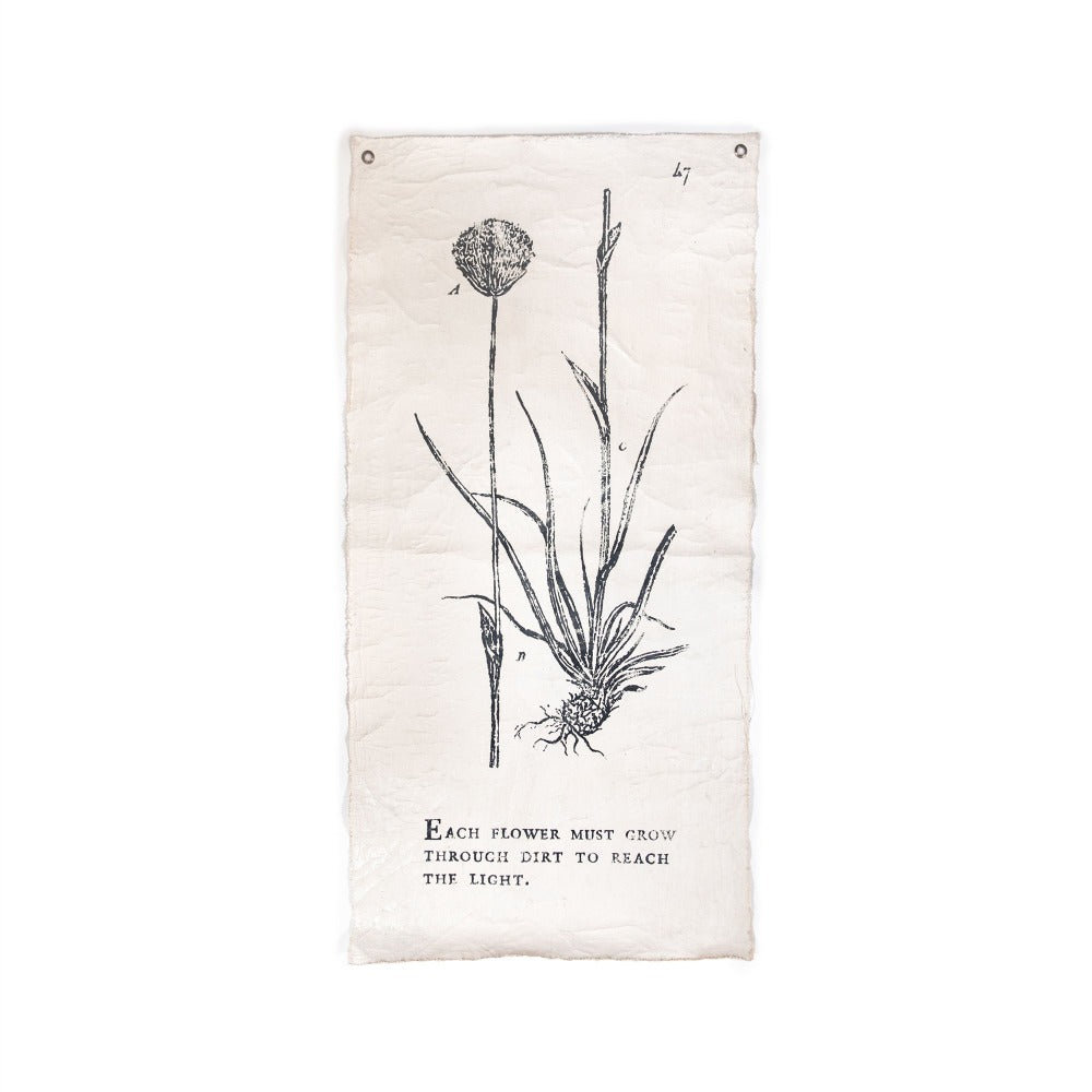 Each Flower Must Grow - Botanical Wall Tarp