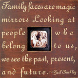 Family Faces Quote Picture Frame Sugarboo