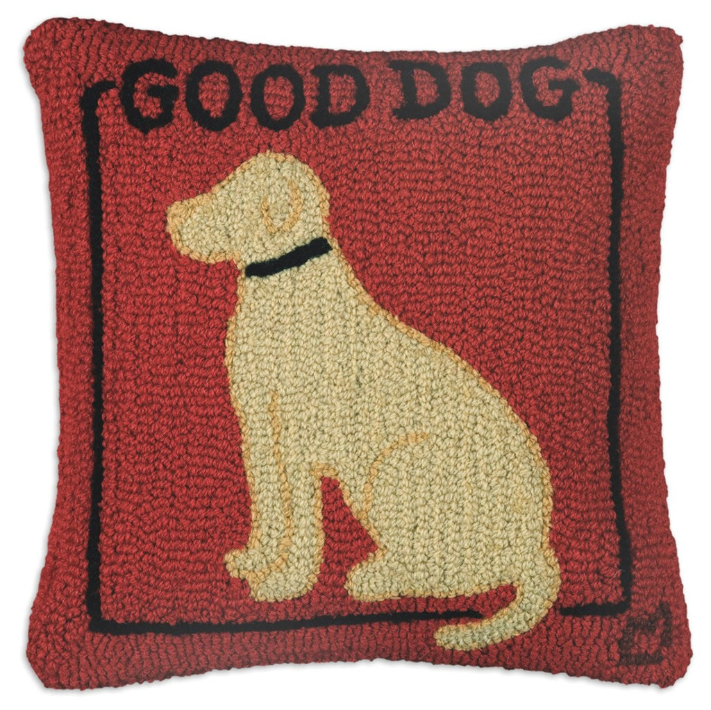 Good Dog Yellow Lab Pillow
