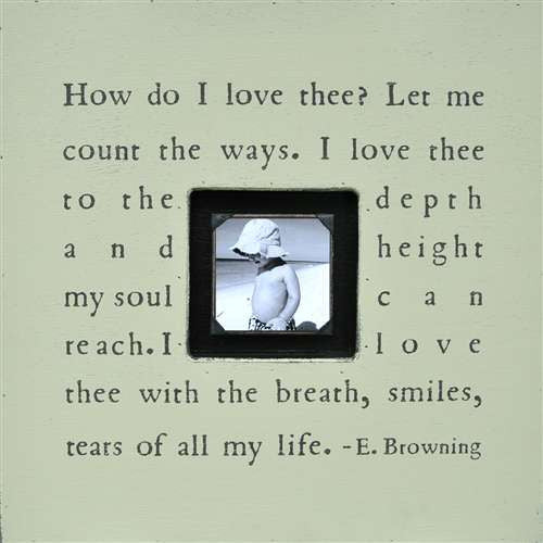 How Do I Love Thee Quote Picture Frame by Sugarboo