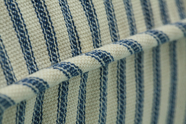 Ticking Stripe Pillow Sham |  Euro, Standard, King, Black, Navy, Grey