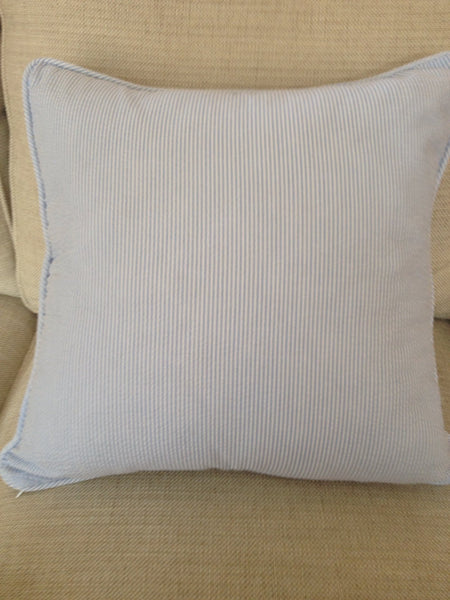 Seersucker Throw Pillow Cover18x18  beach house decor