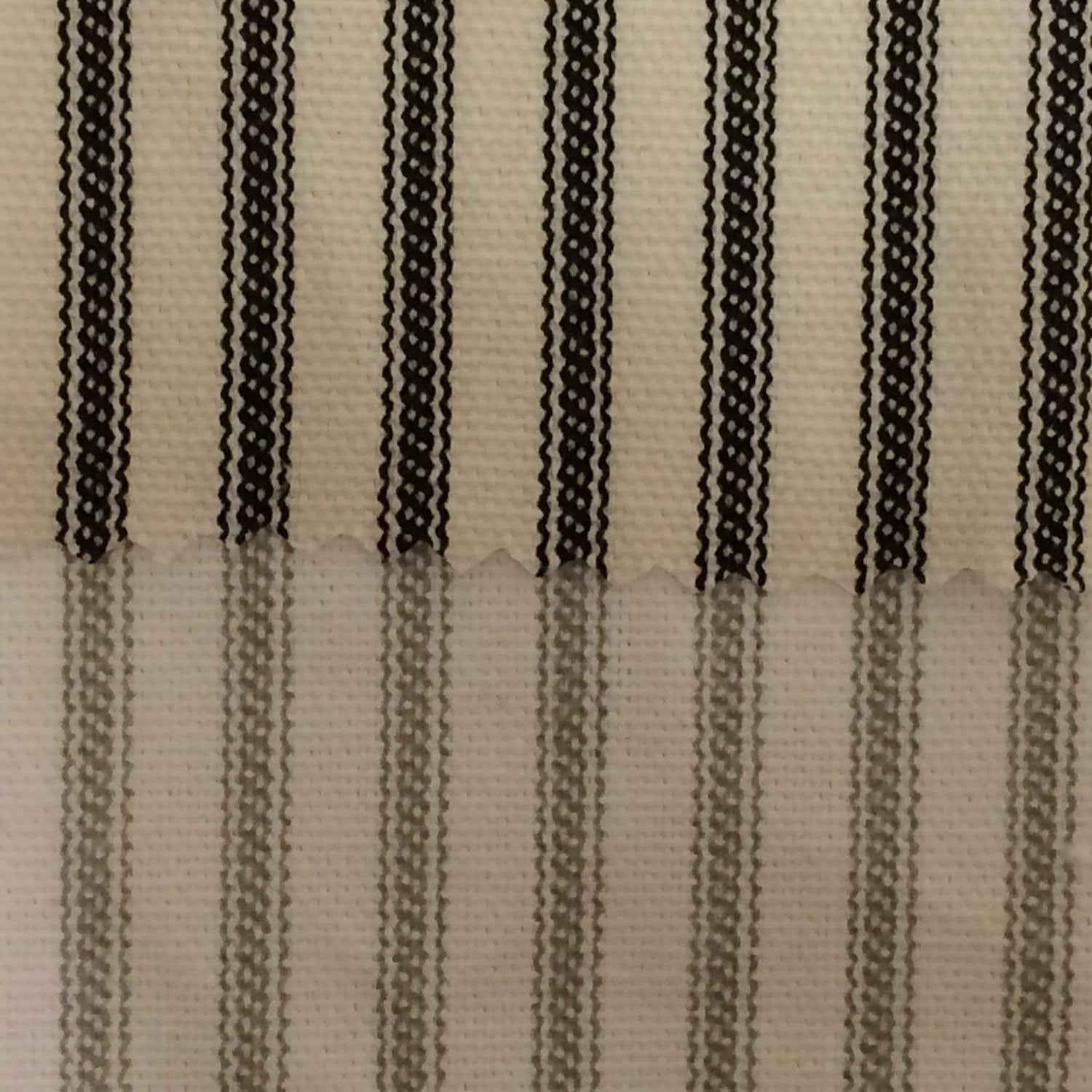 bespoke stripe striped canvas made creams to curtains curtain measure ticking iliv cream