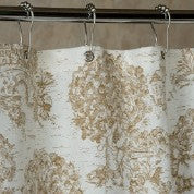 Brown Toile Shower Curtain