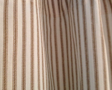 Brown Stripe Ticking Duvet Cover | Made in USA