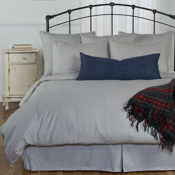 Ticking Stripe Duvet Cover - Navy, Black, Grey, Red, Brown