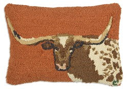 Long Horn Steer Pillow