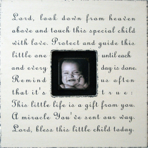 Lord Look Down Quote Picture Frame by Sugarboo