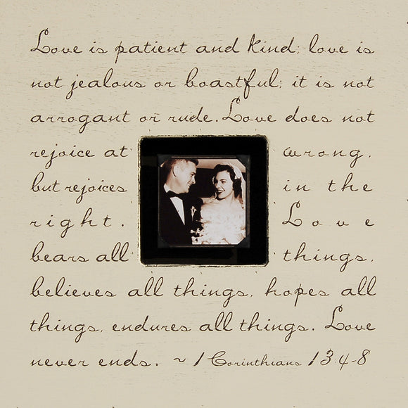 Love Is Patient Quote Picture Frame by Sugarboo