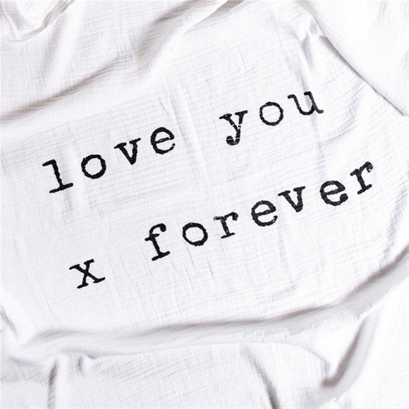 Love You X Forever Baby Swaddle By Sugarboo and Co