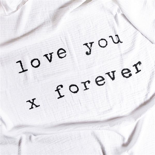 Swaddle Blanket Love You X Forever