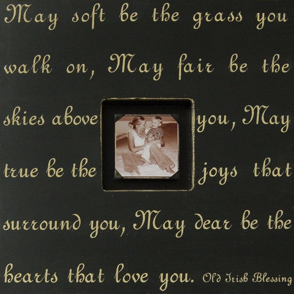 Irish Blessing Quote Picture Frame by Sugarboo