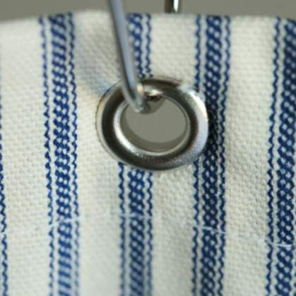 Nautical Ticking Stripe Grommeted Shower Curtain