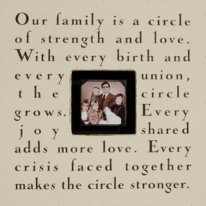 Our Family Is A Circle Picture Frame by Sugarboo
