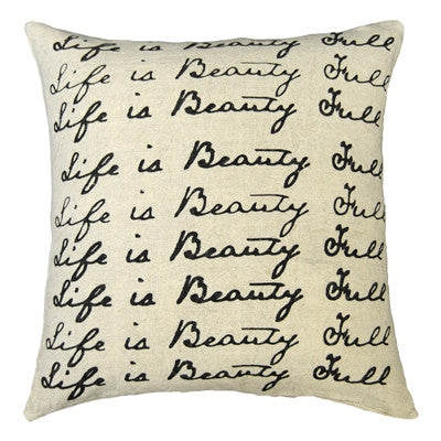 Sugarboo Designs Pillow Life Is Beauty Full