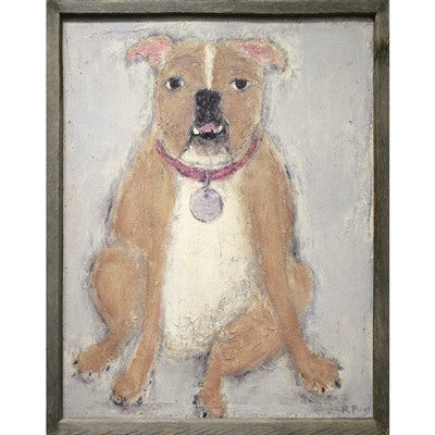 Bull Dog Art Print Sugarboo Designs Rebecca Puig