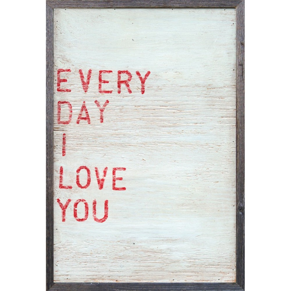 Every Day I Love You Art Print Sugarboo Designs