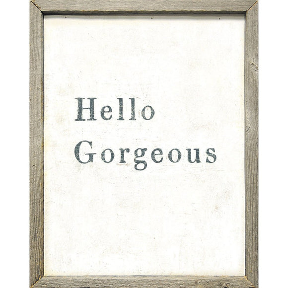 Hello Gorgeous Art Print by Sugarboo