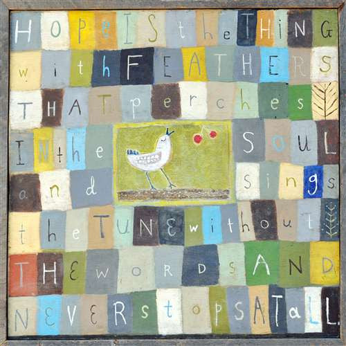 Hope Is The Thing Wall Art by Rebecca Puig