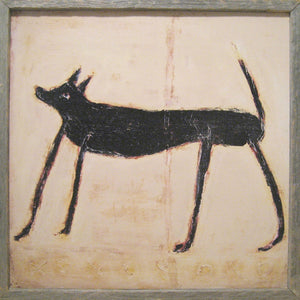 Small Black Dog Wall Art by Rebecca Puig