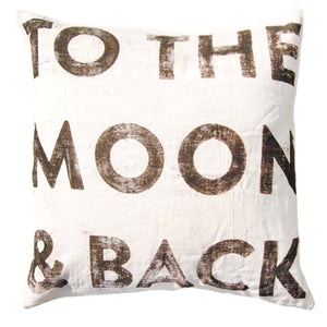 To The Moon and Back Throw Pillow by Sugarboo