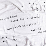 Swaddle Blanket May You Touch Fireflies - IN STOCK for immediate shipment