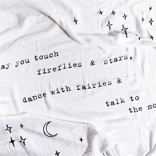 Swaddle Blanket May You Touch Fireflies