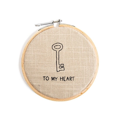 To My Heart Cross - Stitch Embroidery Hoop