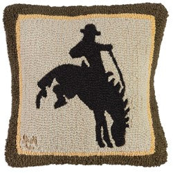 Wild Rider Bronco Pillow