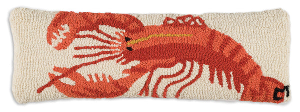 Wool Hooked Throw Pillow - Lobster