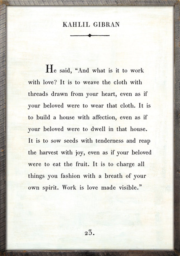 words of wisdom by kahlil gibran print