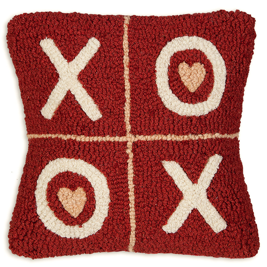 XOXO Hooked Pillow