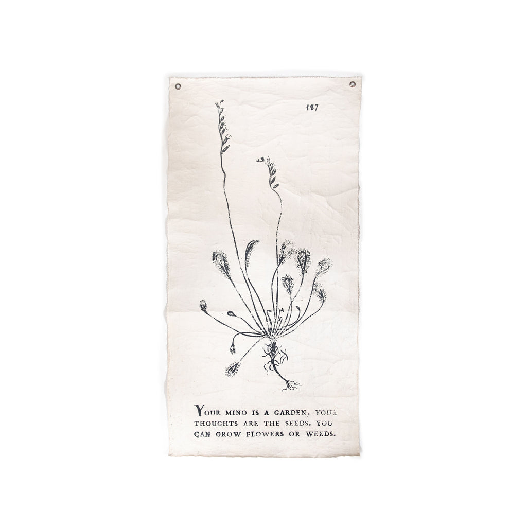 Your Mind Is A Garden - Botanical Wall Tarp