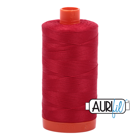 Aurifil cotton thread 50WT 2250 bright red