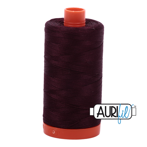 Aurifil cotton thread 50WT 2465 chocolate brown