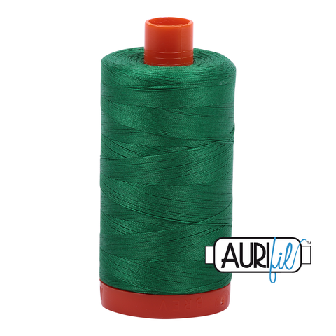 Aurifil cotton thread 50WT 2870 emerald green