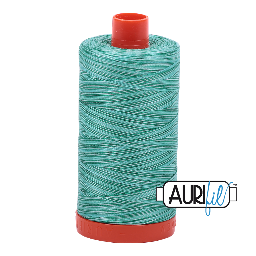 Aurifil cotton thread 50WT 4662 Creme de Menthe variegated
