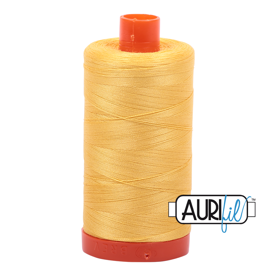 Aurifil cotton thread 50WT 1135 bright yellow