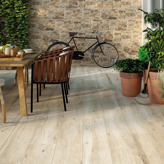 Atelier Wood Effect Floor Tile is also available with an antislip finish