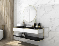 Cararra White Polished Glazed Porcelain