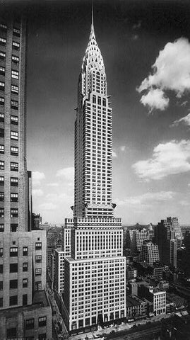 Chrysler Building - Black and White