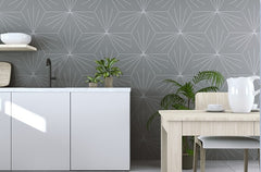 Venus Smoke Hexagonal Tile in Funky Kitchen