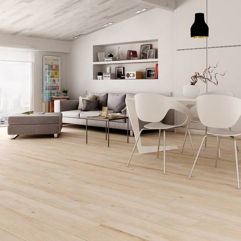 Atelier Beige Wood Effect Tiles in Modern Apartment