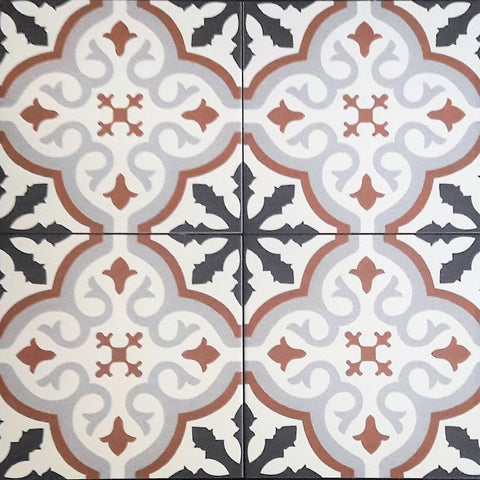 Image of Balmoral Marron Floor Tile 20 x 20 cm