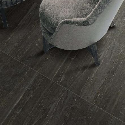 Colonial Celedon Floor Tile with Funky Chair