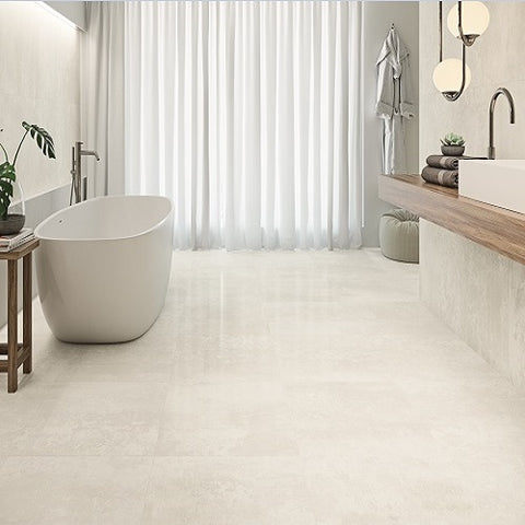 Haden Arctic Lappato Tile with free Standing Bath