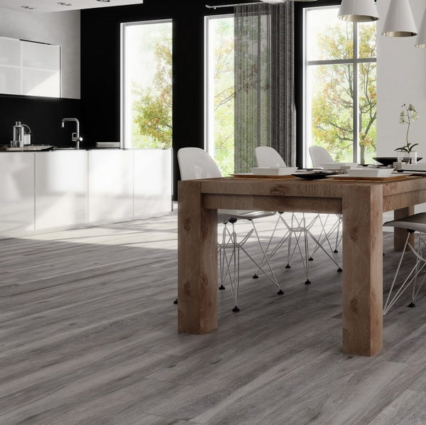Atelier Pecan Grey Rectified Wood Effect Tiles 22 5 X 119 5 Cm