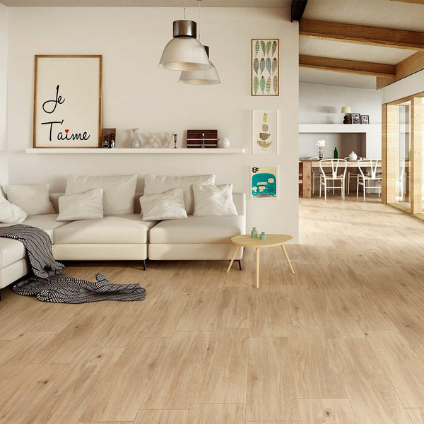 Laponia Wood Effect Tiles in Beautiful Home