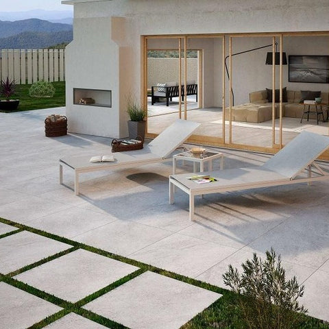 Medici Slate Effect Outdoor Tile in Fancy Garden